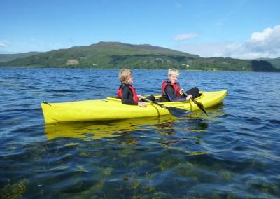 Boys on Loch Scridain